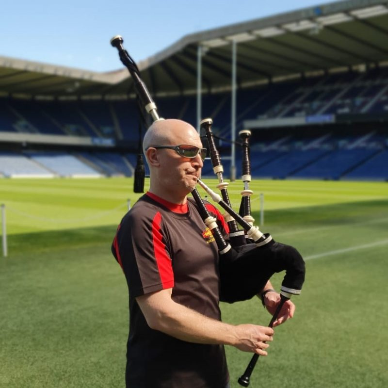 Piping at BT Murrayfield